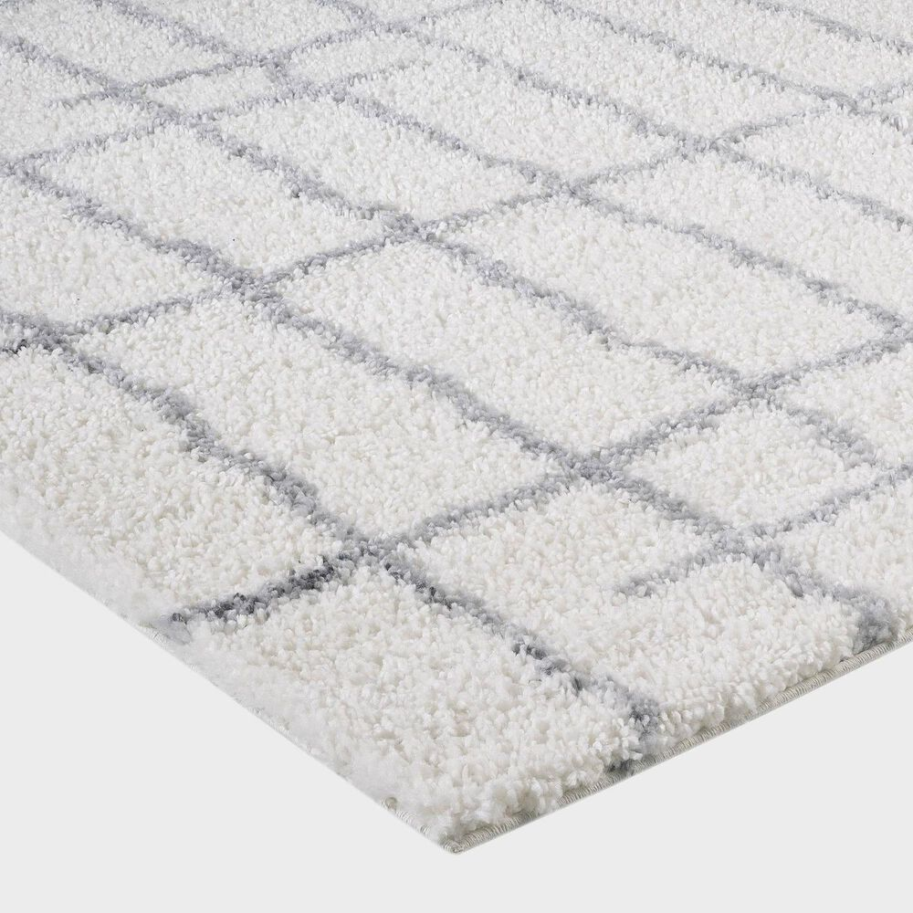 """Central Oriental Prince Light Zan 8656.253 5'3"""" x 7'3"""" Grey and Cream Area Rug, , large"""