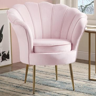 Lilola Home Angelina Accent Chair in Pink, , large
