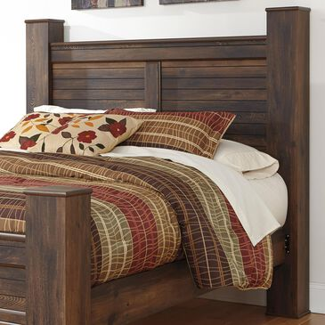 Signature Design by Ashley Quinden Queen Poster Headboard and Posts in Dark Brown, , large