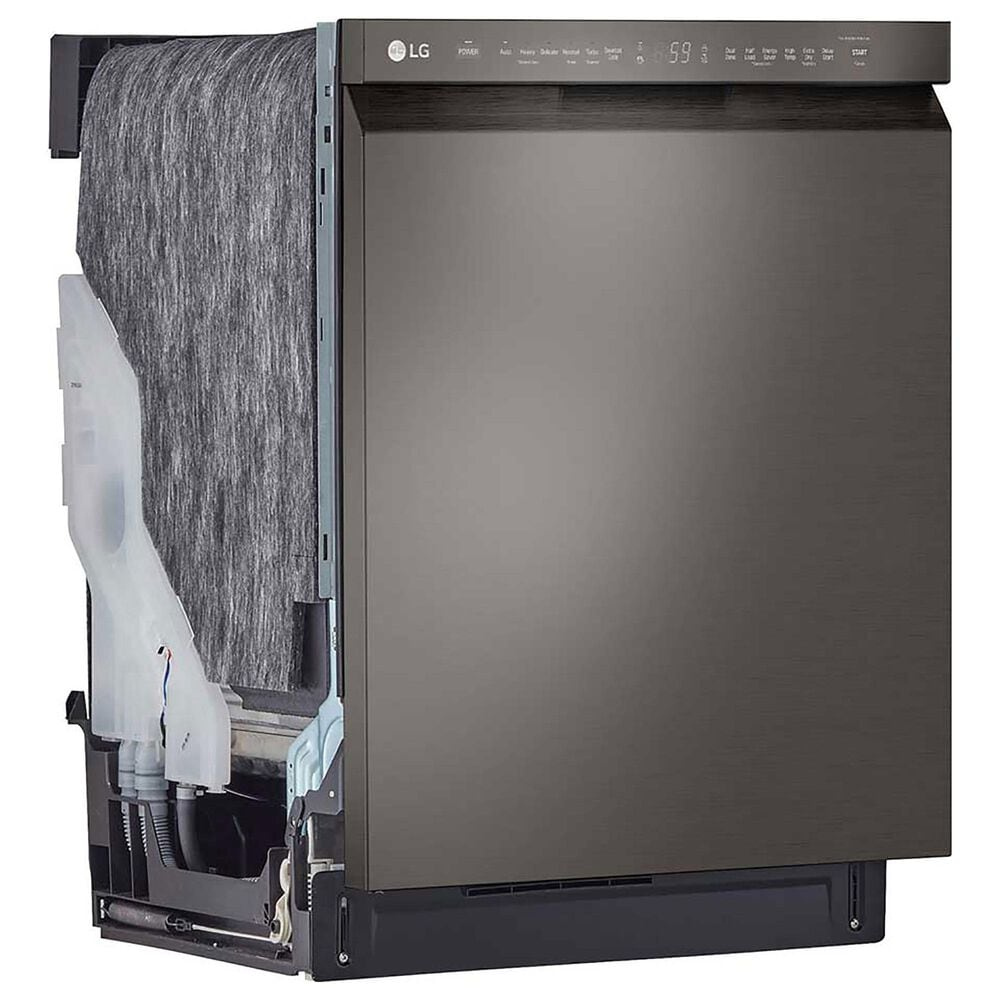 """LG 24"""" Front Control Dishwasher with QuadWash in Black Stainless Steel, , large"""