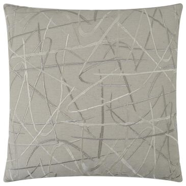 """D.V.Kap Inc 24"""" Feather Down Decorative Throw Pillow in Scribble-Silver, , large"""