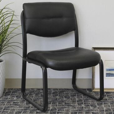 Regal Co. Boss Side Chair with Arms in Black, , large