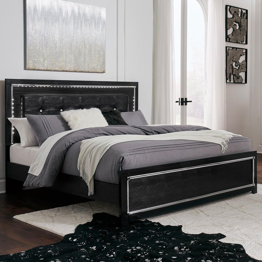 Signature Design by Ashley Kaydell King Panel Bed in Dark Gray, , large