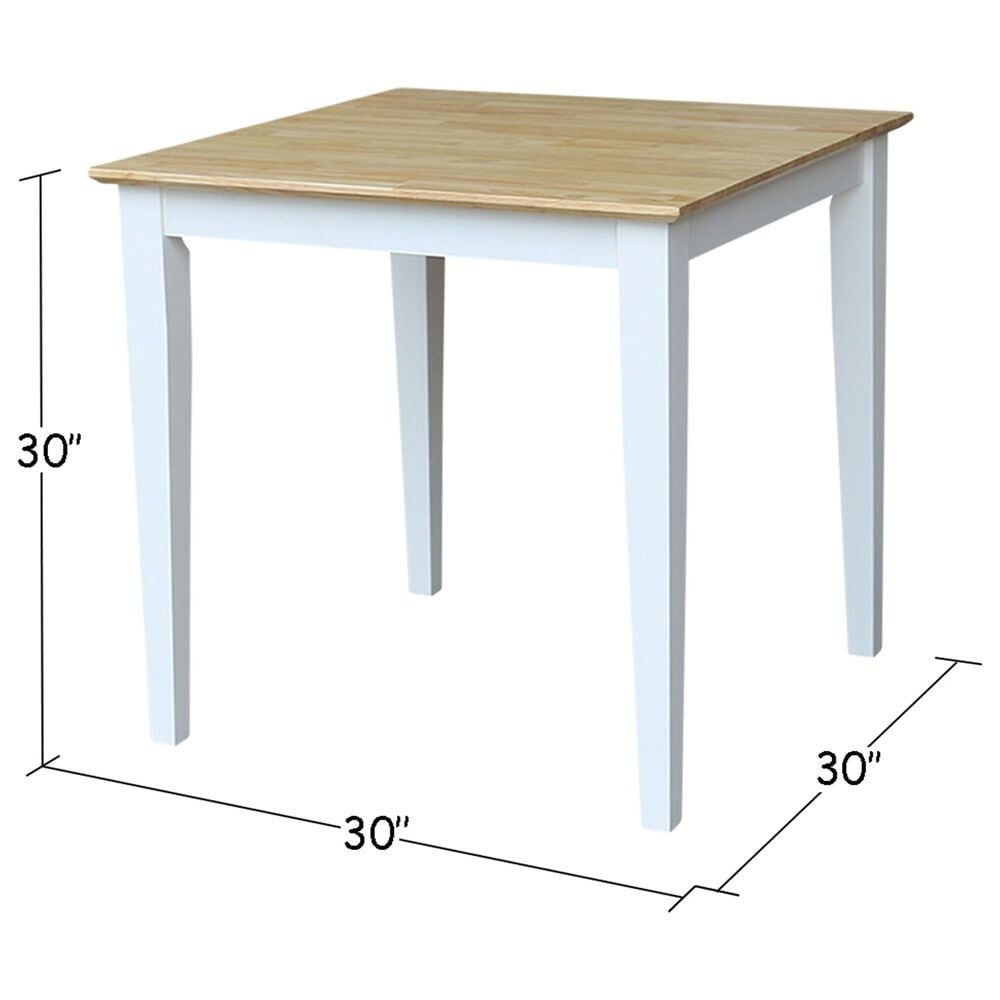 International Concepts Table in White/Natural, , large