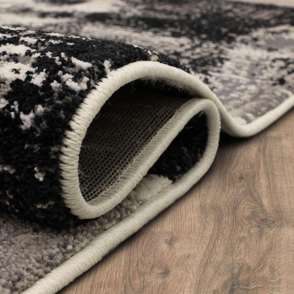 Karastan Epiphany Brush Strokes 8' x 10' Soot Area Rug, , large