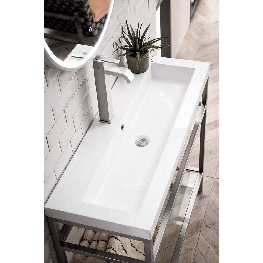 """James Martin 40"""" Single Sink Countertop in White Glossy, , large"""