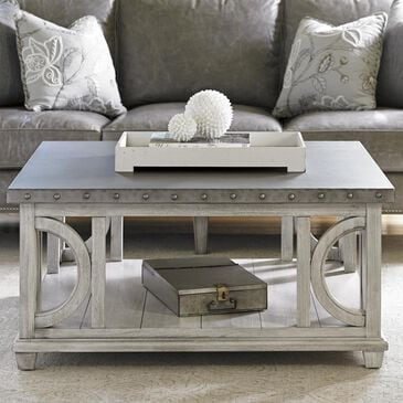 Lexington Furniture Oyster Bay Litchfield Square Cocktail Table in Oyster Cream, , large