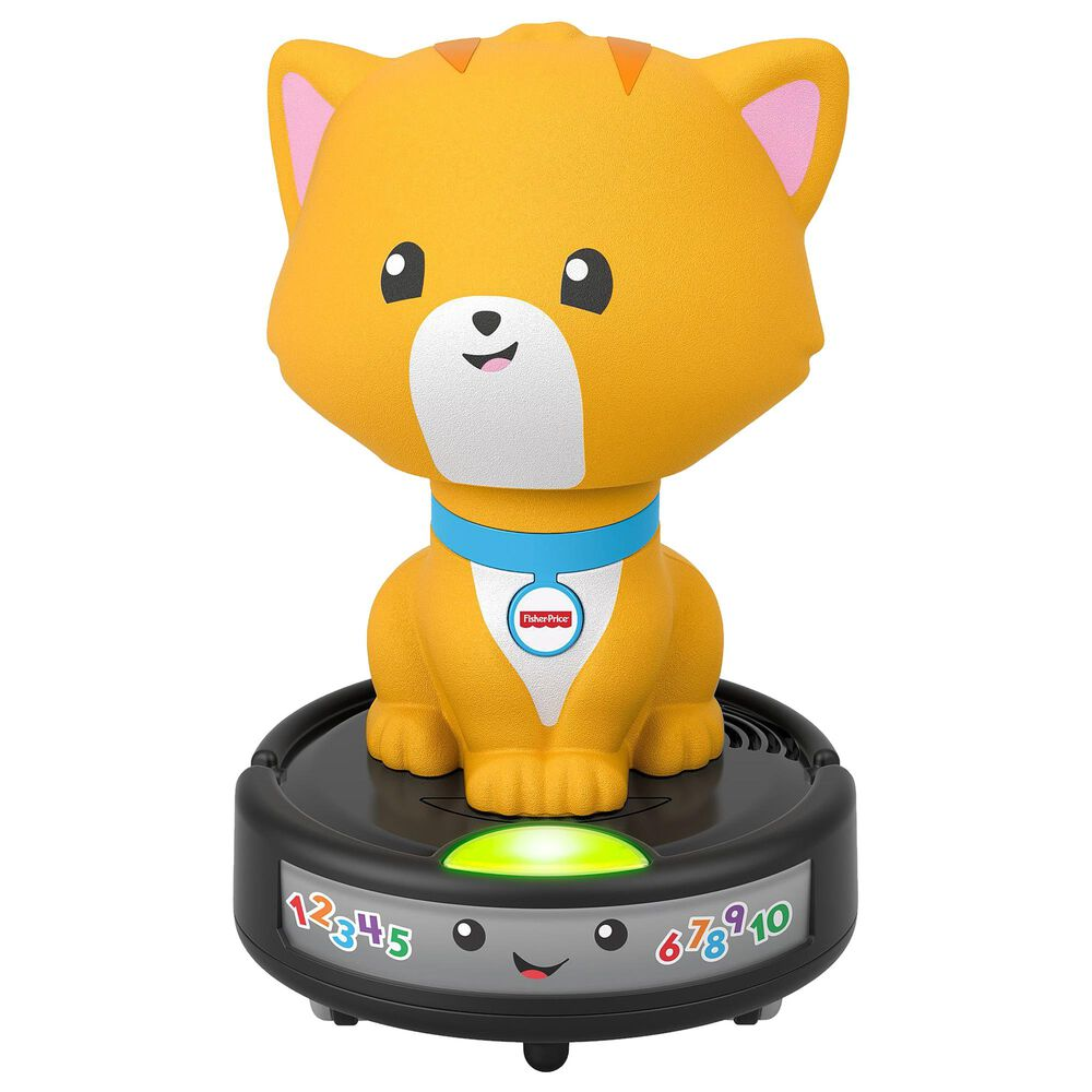 Fisher-Price Laugh and Learn Crawl-After Cat on a Vac Toy, , large