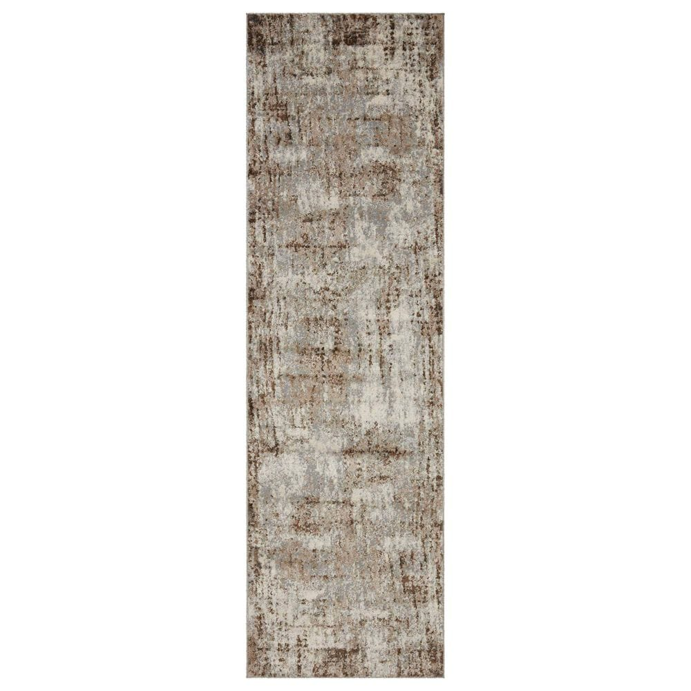 "Loloi II Austen 2'4"" x 10' Natural and Mocha Runner, , large"