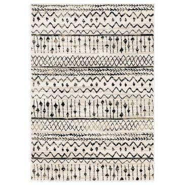 "Oriental Weavers Georgia Tribal 8826E 6""7"" x 9""2"" Ivory and Black Area Rug, , large"