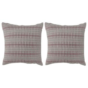"""Furniture of America Holloway 22"""" Throw Pillow in Red (Set of 2), , large"""