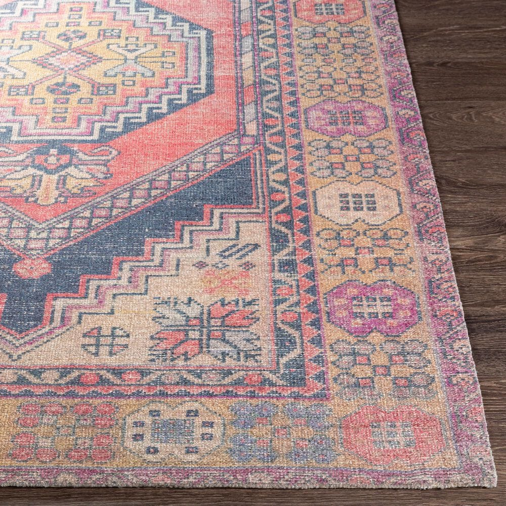 """Surya Unique UNQ-2302 5' x 7'6"""" Yellow, Pink and Denim Area Rug, , large"""