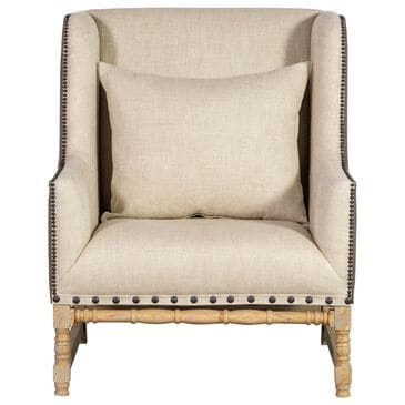 Vintage Furnishings Antwerpen Luca Arm Chair in Two Tone Linen, , large