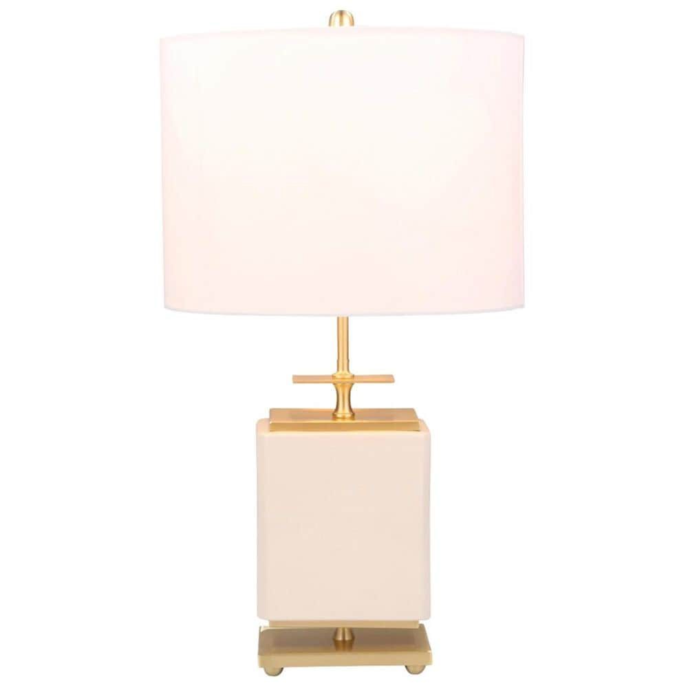 """Sagebrook Home 28"""" Table Lamp in White with Drum Shade, , large"""