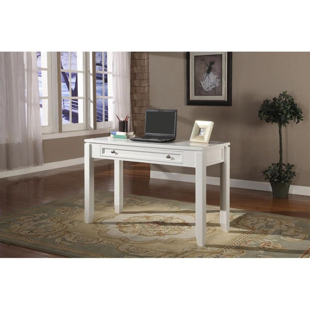 """Simeon Collection Boca 47"""" Writing Desk in White, , large"""