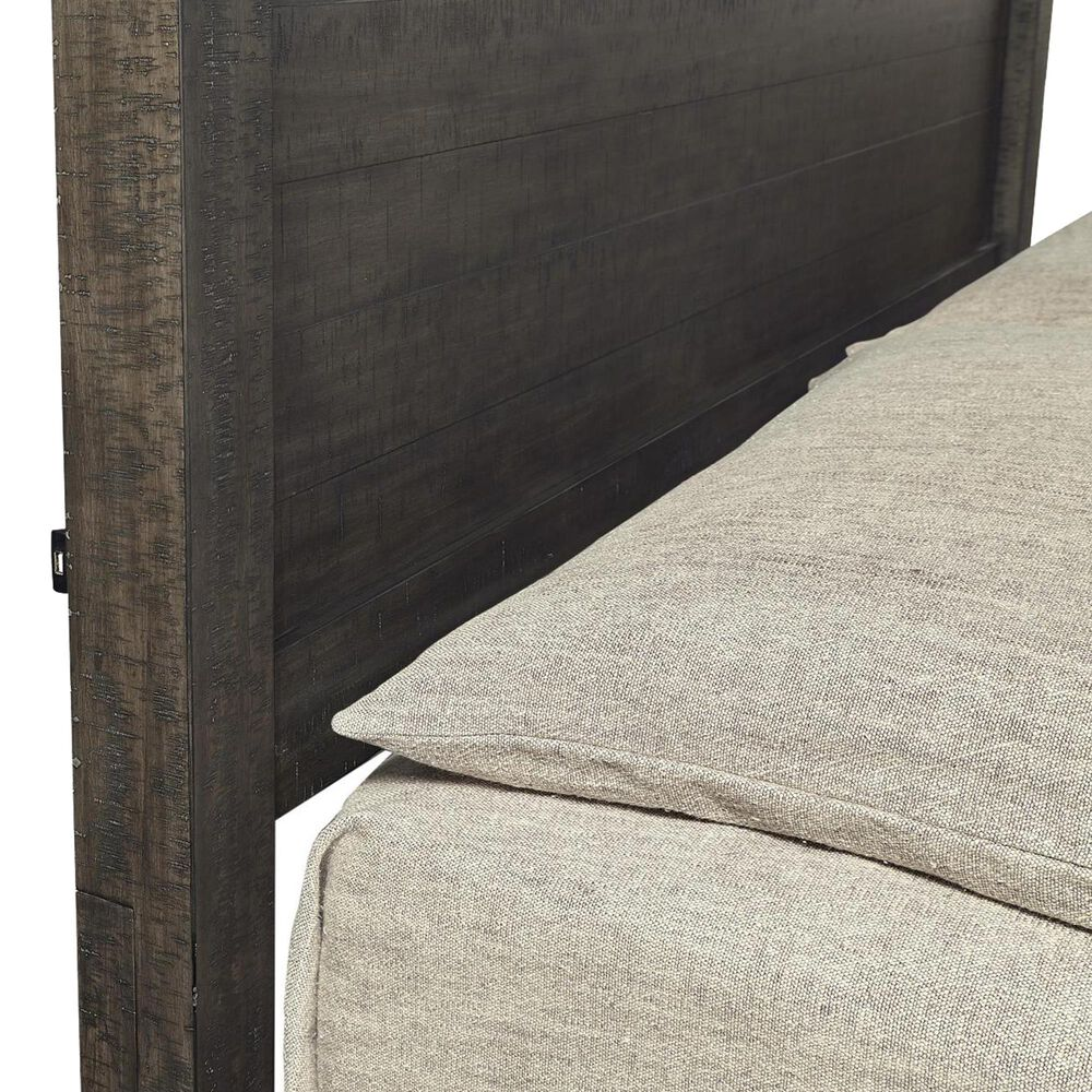 Riva Ridge Mill Creek 5 Piece Queen Low Profile Bed Set in Carob, , large