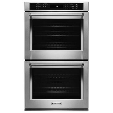 """KitchenAid 27"""" Double Wall Oven with Even-Heat True Convection, , large"""
