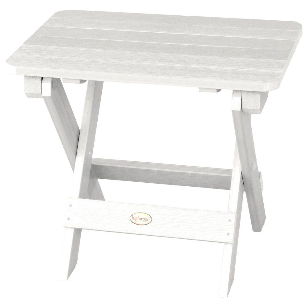 Highwood USA Adirondack Side Table in White, , large