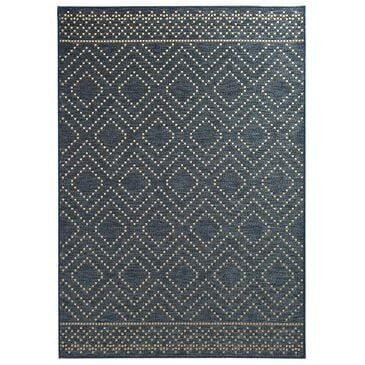 "Trisha Yearwood Rug Collection Gather Sidra Border TYWD 5'3"" x 7'7"" Cobalt and Natural Outdoor Rug, , large"