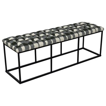 Kinfine Draper Bench in Black and White, , large