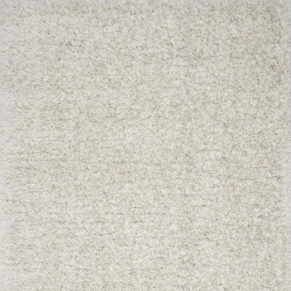 """Loloi Kayla Shag KAY-01 2'2"""" x 4' Light Grey Door Mat, , large"""