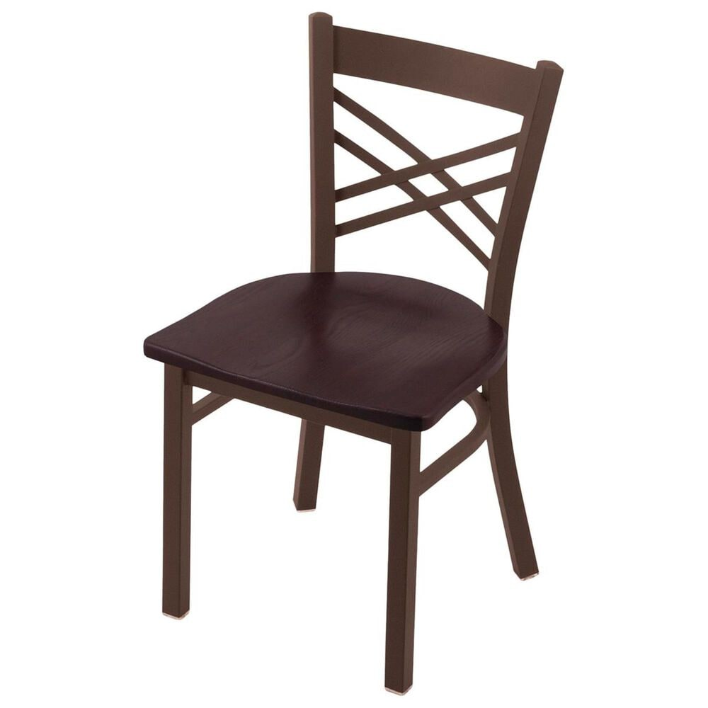 """Holland Bar Stool 620 Catalina 18"""" Chair with Bronze and Dark Cherry Oak Seat, , large"""