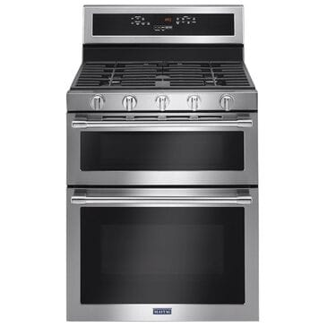 Maytag 6.0 Cu. Ft. 30-Inch Wide Double Oven Gas Range With True Convection in Stainless Steel , , large