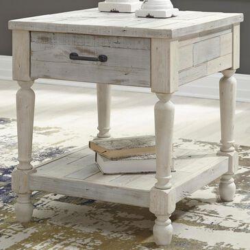 Signature Design by Ashley Shawnalore Rectangular End Table in Whitewash, , large