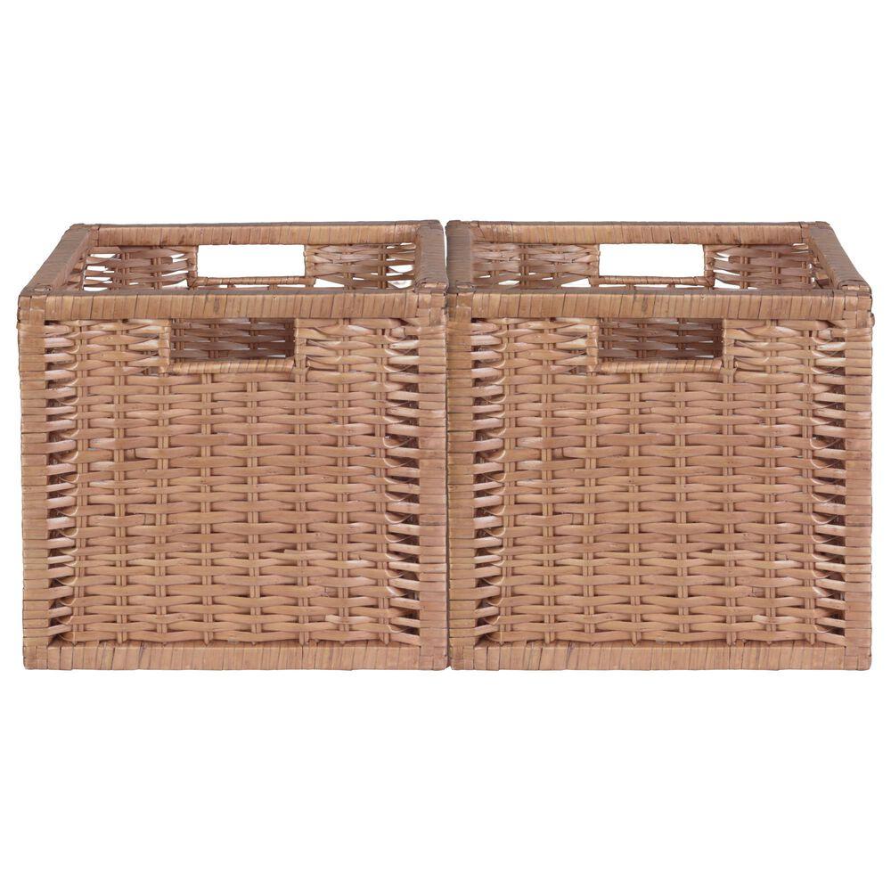 Regency Global Sourcing Niche Cubo Wicker Storage Basket in Natural (Set of 2), , large