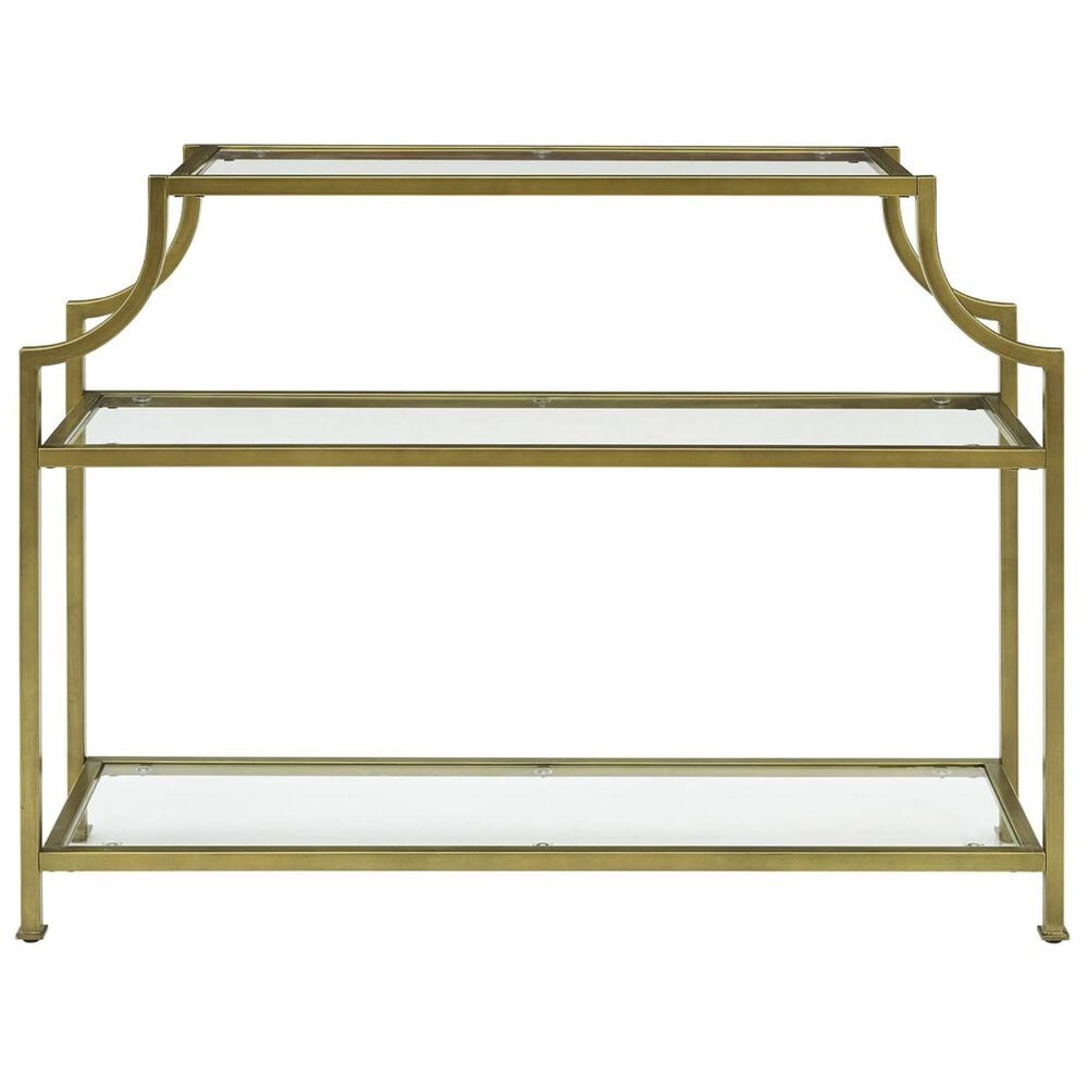 Crosley Furniture Aimee Console Table in Gold, , large