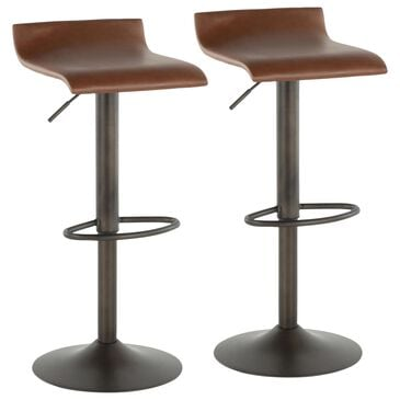 Lumisource Ale Barstool in Brown/Antique (Set of 2), , large