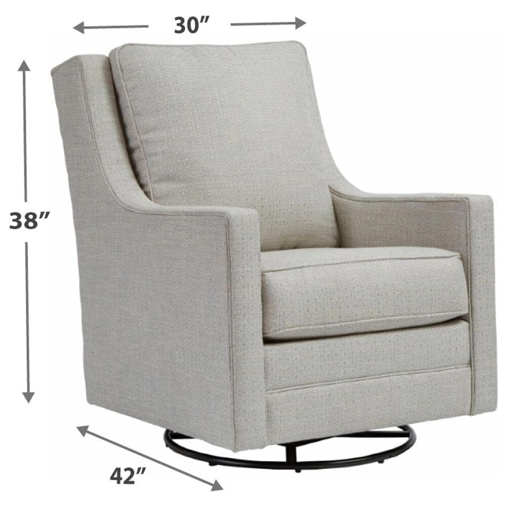 Signature Design by Ashley Kambria Swivel Glider Accent Chair in Frost, , large