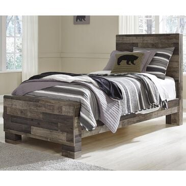 Signature Design by Ashley Derekson Twin Bed in Walnut and Gray, , large