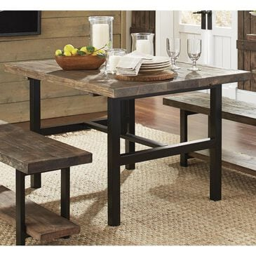 Bolton Furniture Pomona Metal and Reclaimed Wood Dining Table - Table Only, , large