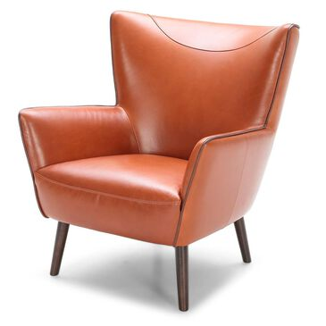 Interlochen Leather Chair in Madrid Orange, , large