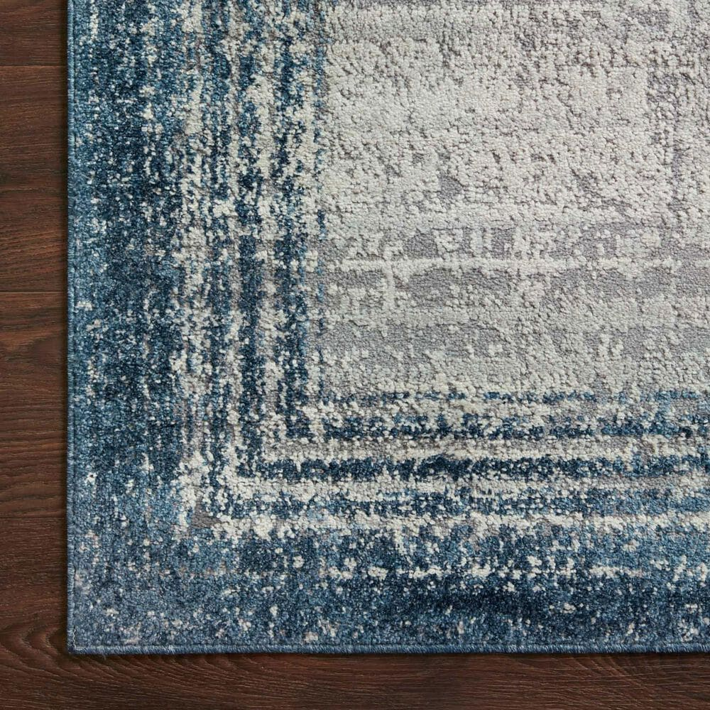 "Loloi II Austen AUS-02 2'4"" x 10' Pebble and Blue Runner, , large"