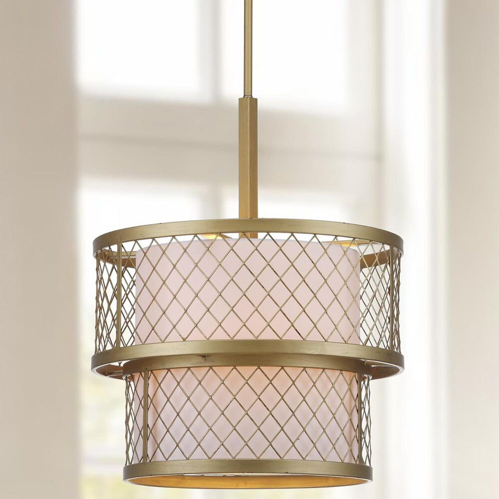 "Safavieh Evie 6-Light 17"" Adjustable Pendant in Antique Gold, , large"