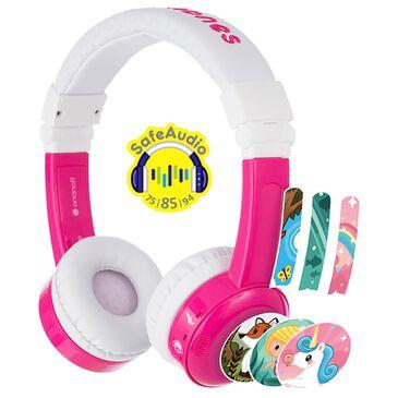 BuddyPhones InFlight Headphones in Pink, , large