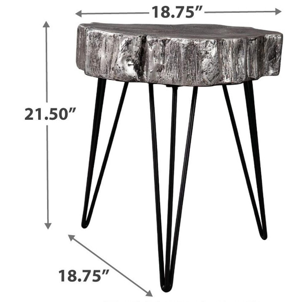 Signature Design by Ashley Dellman Accent Table in Antique Silver and Black, , large