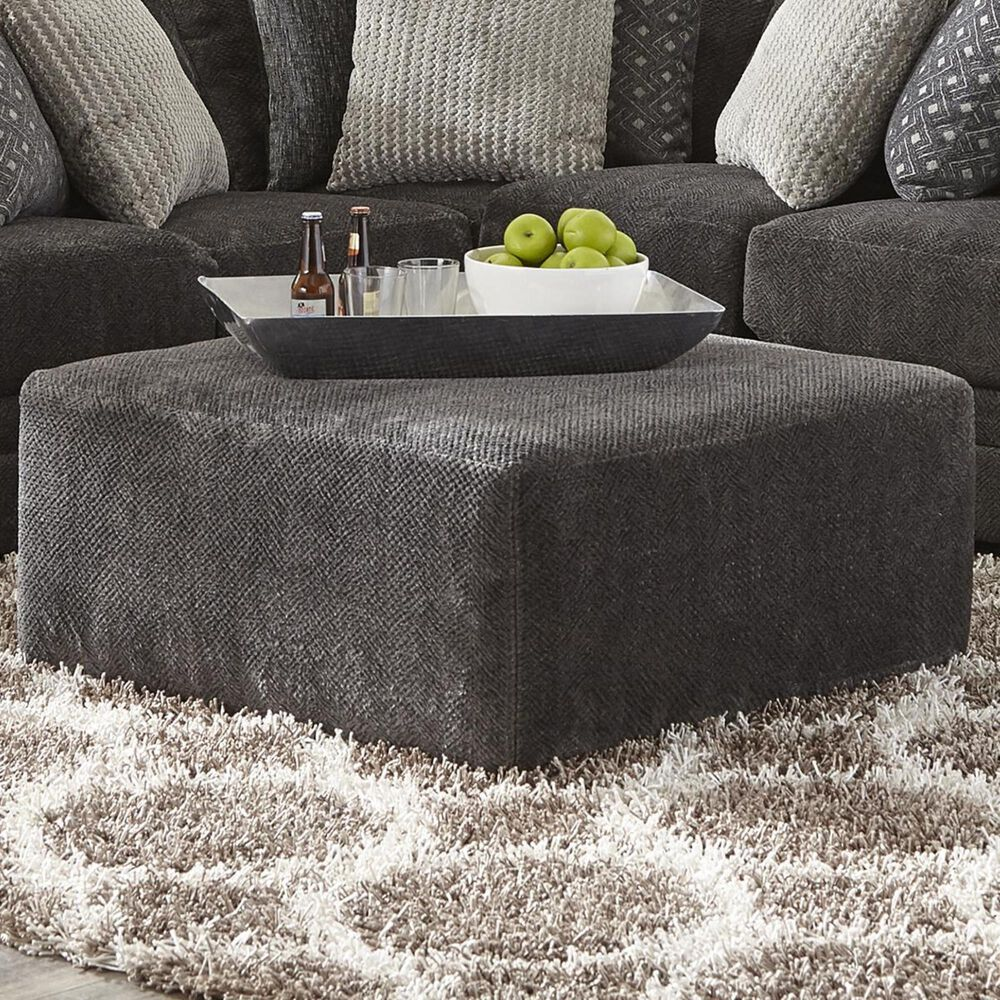 """Hartsfield Mammoth 40"""" Cocktail Ottoman in Smoke, , large"""