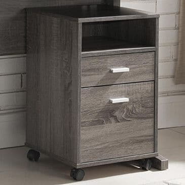 Living Essentials File Cabinet in Distressed Grey, , large