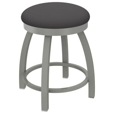 """Holland Bar Stool Misha 18"""" Swivel Vanity Stool with Anodized Nickel and Canter Storm Seat, , large"""