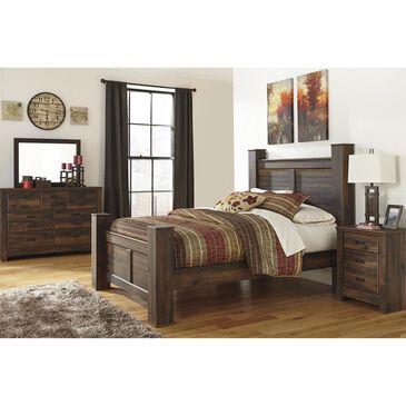 Signature Design by Ashley Quinden 4 Piece Queen Bedroom Set in Dark Brown, , large
