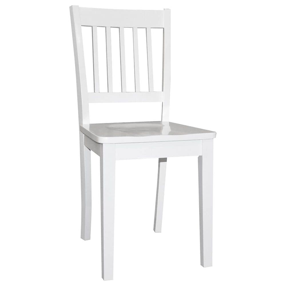 Richlands Furniture Schoolhouse Universal Youth Wood Chair in White, , large