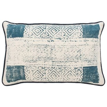 Safavieh Abena Pillow in Blue/Cream, , large