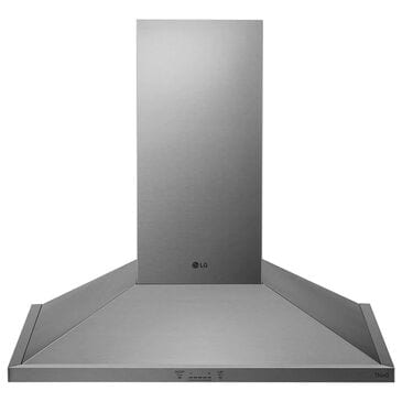 "LG 36"" Wall Mount Chimney Hood with 600 CFM Blower in Stainless Steel, , large"