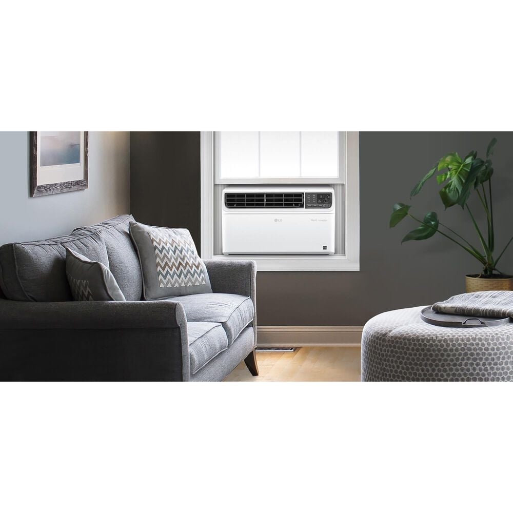 LG 9500 BTU Dual Inverter Smart Wi-Fi Enabled Window Air Conditioner in White, , large