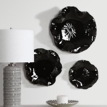 Uttermost Abella Wall Decor in Black (Set of 3), , large