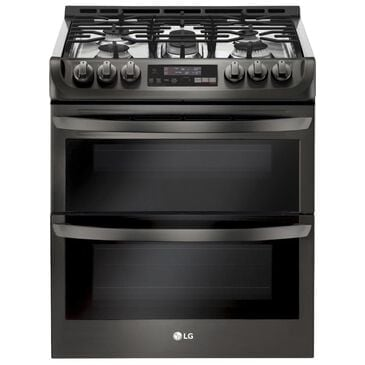 LG 6.9 cu. ft. Smart wi-fi Enabled Gas Double Oven Slide-In Range with ProBake Convection and EasyClean in Black Stainless Steel , , large