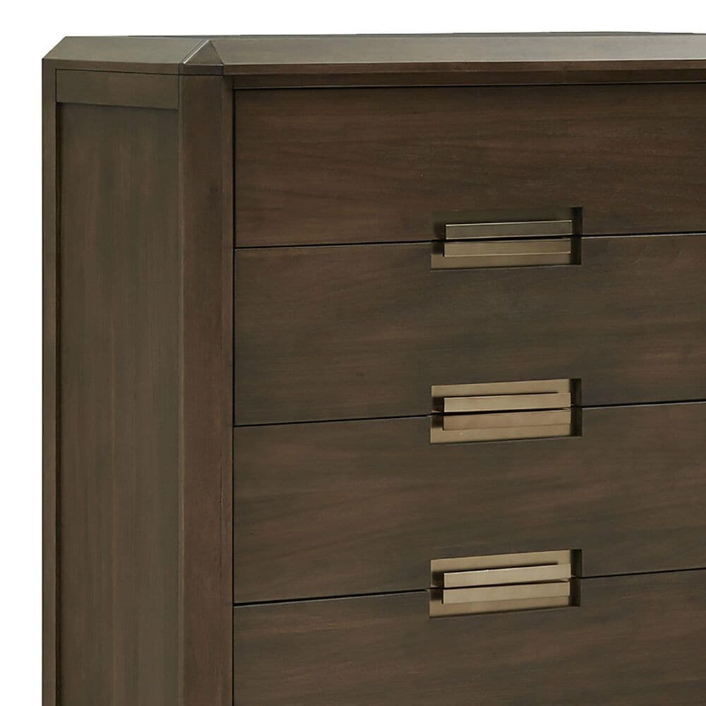 Nicolette Home Nouvel 5 Drawer Chest in Russet, , large
